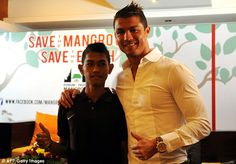 Real Madrid star Cristiano Ronaldo was inspired by Martunis' story and met with him after ...