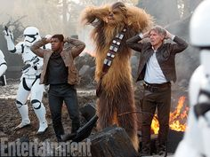 Finn, Chewie and Han Solo | The Force Awakens