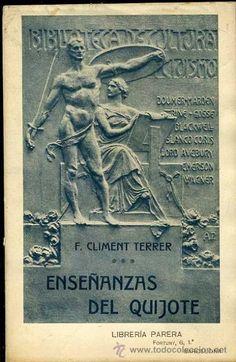 climent terrer : enseñanzas del quijote (librer - Comprar Libros antiguos clásicos en todocoleccion - 33982718