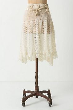 Crocheted Napery Skirt from anthro - limited edition