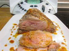 Lomo de cerdo a la sal con salsa de tomillo Thermomix - La Alacena de MO