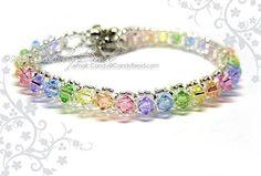 I found 'Swarovski Crystal Bracelet  Sweet rainbow single row by candybead' on Wish, check it out!