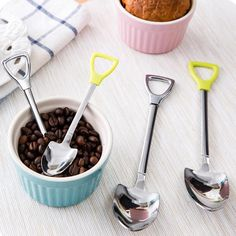 Cheap shovel, Buy Quality shovel bucket directly from China shovel knife Suppliers: New Stainless Steel Spoon Size M L Shovel Shape Design Coffee Ice Cream Soup Spoon Long Handle Honey Teaspoons for Children W45