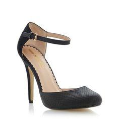 Head Over Heels by Dune Black two part high heel court shoe- at Debenhams.com