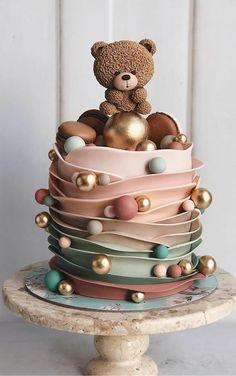 Creative Birthday Cakes, Beautiful Birthday Cakes, Baby Birthday Cakes, Creative Cakes, Elegant Birthday Cakes, Beautiful Cake Designs, Beautiful Cakes, Amazing Cakes, Pretty Cakes