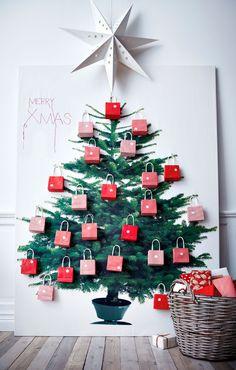 Fabric Christmas Tree - IKEA fabric #christmas #holiday #decor #decoration