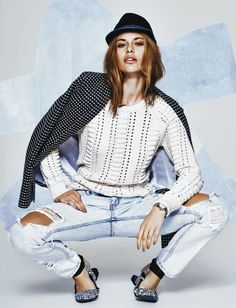 Youthful Denim Editorials - The Cosmopolitan Australia June 2014 Photoshoot Stars Lena (GALLERY)