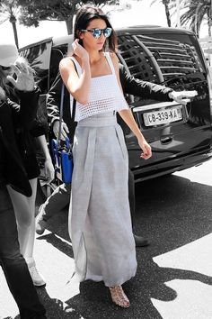 Kendall Jenner Cannes Maxi Skirt Outfit