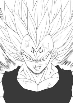 Dragon Ball Z, Evil Goku, Dbz Drawings, Goku Y Vegeta, Ball Drawing, Spiderman Art, Dark Fantasy Art, Anime Art, Character Design