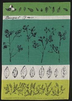 Bouquet Garni tea-towel by Lucienne Day.