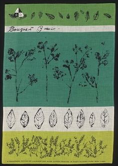 Bouquet Garni tea-towel by Lucienne Day
