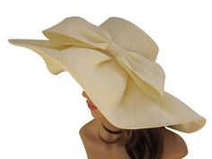 Material: Linen Circumference: Approx. 22 1⁄2 in (57~58cm) Brim: 14.5 cm