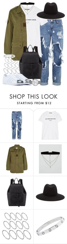 """Sin título #4140"" by hellomissapple on Polyvore featuring moda, OneTeaspoon, Off-White, Yves Saint Laurent, ASOS, Mansur Gavriel, rag & bone, adidas Originals, Cartier y Marc by Marc Jacobs"