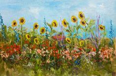 Summergarden vibrant colors flowers Dutch by NancyvandenBoom
