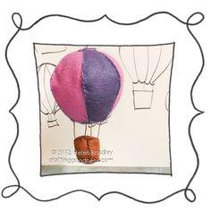 felt balloon 3d opener Up Up and Away make a cute Felt Balloon