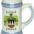 Caldwell Coat of Arms / Family Crest stein mug