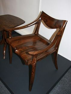 sculpted maloof joint in walnut - bar stool built by Paul ...