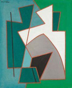 ALBERTO MAGNELLI - Pittura Rivale No 5, 1951 - Olio su tela, 55 x 46 cm.