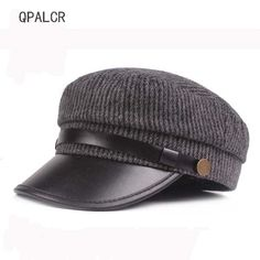 569e99cfcc5fd Barato Qpalcr chapéu militar caps chapéus de inverno para as mulheres dos  homens do vintage flat