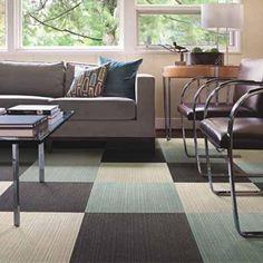 Contemporary room design with Flor carpet tiles.