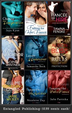 All of these books from Entangled Publishing, LLC are on sale for only #99cents each! Click on photo for links!