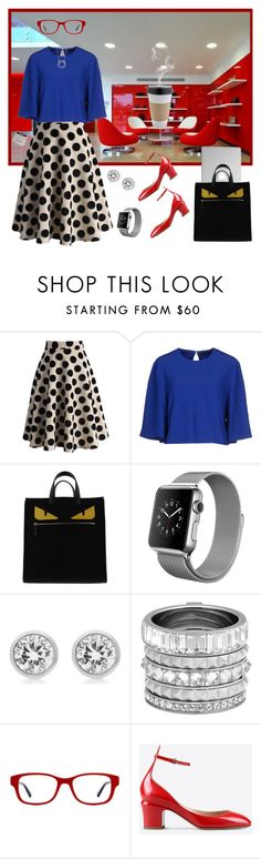 """""""The Casual Chic Office"""" by krusie ❤ liked on Polyvore featuring Chicwish, Alexander McQueen, Fendi, Michael Kors, Henri Bendel, OUTRAGE, Ralph Lauren, Valentino, Blue Nile and women's clothing"""