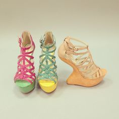 Getting ready for Spring! #urbanog #shoes #heelless #colorful #twotone #new #strappy #fashion