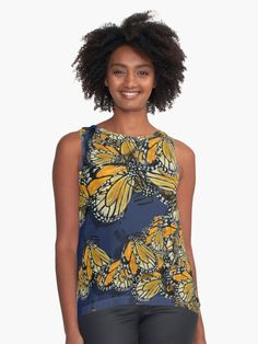 Butterfly Spring fashion designer top clothing by @anoellejay @redbubble • Also buy this artwork on apparel, stickers, phone cases, and more.