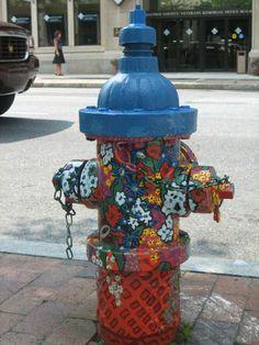 Fire Hydrants, Home Crafts, Diy Crafts, Cool Fire, Fire Equipment, Murals Street Art, Firefighting, Water Colors, Outdoor Art