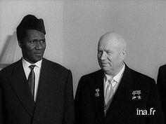 Ahmed Sékou Touré e Nikita Kruschev (década de 1960).