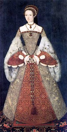 """Catherine Parr (1512-48) Henry VIII's last wife by Master John, 1545 (one of the prettiest Tudor portraits) Parr. Note from Bron Larner """"A most interesting work: always said historically to be Parr, re-labelled by Strong, and recently reattributed, I think, by a scholar working with jewel inventories."""""""