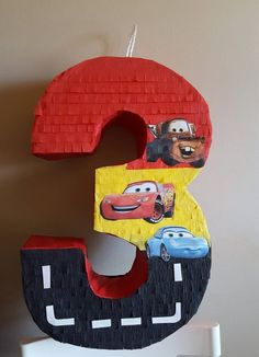 Cars rayo mcqueen invitacion Ideas for 2019 Pixar Cars Birthday, Cars Birthday Parties, Birthday Party Decorations, 3rd Birthday, Piñata Cars, Car Pinata, Car Themes, Mc Queen, Color