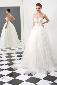 bien savvy bridal 2015 sharon strapless ball gown wedding dress sweetheart neckline lace bodice