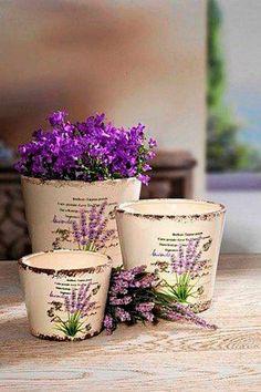 Painted Clay Pots, Painted Flower Pots, Decoupage Art, Decoupage Vintage, Vasos Vintage, Tin Can Art, Inspiration Artistique, Deco Paint, Raindrops And Roses