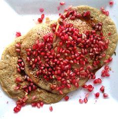 Buckwheat sourdough pancakes with pomegranate