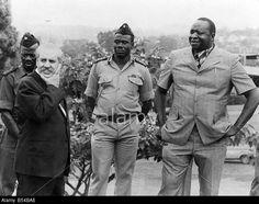uganda 1977 - Idi Amin and his Henchmen, photographed in Kampala, Uganda with Bob Astles February 1977.
