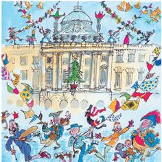 The most amazing Christmas card ever: Quentin Blake's Somerset House Ice Rink Greetings Card. Quentin Blake!