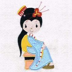 This free embroidery design from Designs by Sick is a Geisha applique.