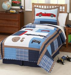 Rosenberry Rooms - Cars Quilt and Pillow Sham