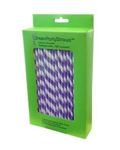 Purple striped paper straws for guests to drink with? Could be cute and go with your theme.