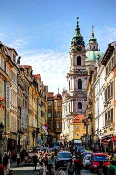 Praag - St Nicolaas kerk Places Around The World, Travel Around The World, Around The Worlds, Places To Travel, Places To Visit, Visit Prague, Prague Travel, Prague Czech Republic, Most Beautiful Cities