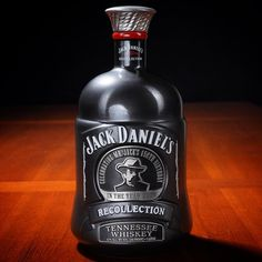 """Some of the most beautiful Jack bottles were never filled. The """"Recollection Jug"""" was going to be used for the Birthday of Jack… Bebidas Jack Daniels, Jack Daniels Cocktails, Cigars And Whiskey, Scotch Whiskey, Whiskey Bottle, Jack Daniels Bottle, Jack Daniels Whiskey, Alcohol Bottles, Liquor Bottles"""