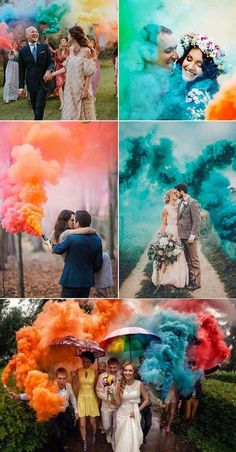 50 + Cool & Colorful Smoke Bomb Wedding Inspirations You Will Love Gorgeous smoke bombs colored wedding smoke 2019 wedding trends trends smoke bombs wedding smoke send off Wedding Picture Poses, Pre Wedding Photoshoot, Wedding Photography Poses, Wedding Poses, Wedding Shoot, Wedding Couples, Wedding Pictures, Photography Pics, Wedding Dresses