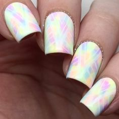 i'm so in LOVE with these! after i saw @nailstorming's dry brush tribal design i knew i wanted to do something similar two_hearts i used most of @colorclubnaillacquer's 'pastel neons' and stamped with @sinfulcolorsprofessional 'snow me white' and my @faburnails 'XL gold stamper'. i used @moyou_london 'holy shapes plate 03'. while i was hoping the stamp would show up a little better i still really like the final result!