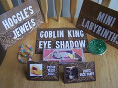 Everything you ever need to make an awesome Labyrinth party! Bowie Birthday, 30th Birthday, First Birthday Parties, Girl Birthday, First Birthdays, Birthday Ideas, Movie Party, Party Time, Bride Cupcakes