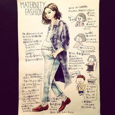 Fashion Art, Girl Fashion, Fashion Design, Rene Gruau, Pregnancy Journal, Erin Condren, Happy Planner, I Fall In Love, Maternity Fashion