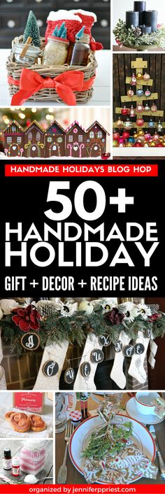Find over 50 DIY gift ideas, holiday decor projects , holiday recipes, and food gift ideas from your favorite DIY bloggers and craft product companies. Win one of 11 prizes worth $50 each from amazing sponsors! EVERY blog post has a tutorial showing how to make each project to help you make this holiday handmade