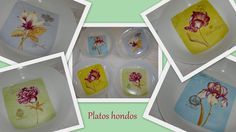Platos hondos - Pintura sobre porcelana