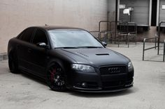 matte black Audi S4 The EXACT car I plan on building, cept different wheels  and