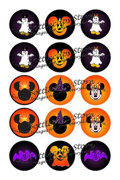 1 inch Disney Halloween Inspired by bottlecapsstore on Etsy